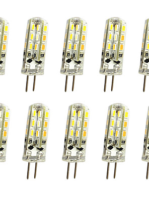 cheap Girls' Dresses-10pcs 1 W LED Bi-pin Lights 120 lm G4 T 24LED LED Beads SMD 3014 Decorative Warm White Cold White 12 V / 10 pcs / RoHS