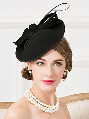 cheap Prom Dresses-Wool / Feather Kentucky Derby Hat / Fascinators / Hats with 1 Wedding / Special Occasion / Casual Headpiece