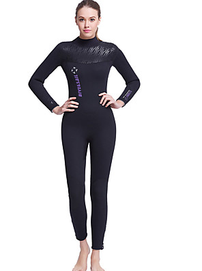 cheap Wetsuits, Diving Suits & Rash Guard Shirts-Dive&Sail Women's Full Wetsuit 5mm Nylon Neoprene Diving Suit Clothing Suit Thermal / Warm Waterproof UV Sun Protection Long Sleeve Swimming Diving Surfing Spring Summer Fall / Breathable / Quick Dry