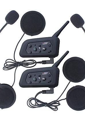 cheap Evening Dresses-2Pcs 1200M Waterproof Motorcycle Helmet Interphone Bluetooth Intercom Headset V6 Intercom Intercomunicador Moto Interfones Helmet Headset