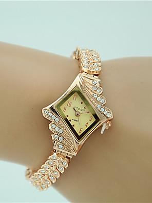 저렴한 쿼츠 시계-여성용 팔찌 시계 다이아몬드 시계 금시계 석영 숙녀 모조 다이아몬드 골드 아날로그 - 골드 1 년 배터리 수명 / Tianqiu 377
