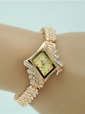cheap Quartz Watches-Women's Bracelet Watch Diamond Watch Gold Watch Quartz Ladies Imitation Diamond Analog Gold / One Year / One Year / Tianqiu 377