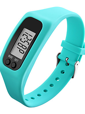 cheap Sport Watches-Men's Women's Sport Watch Wrist Watch Digital Watch Digital Pedometers Rubber Black / White / Blue Digital - White Black Yellow / LCD / Colorful
