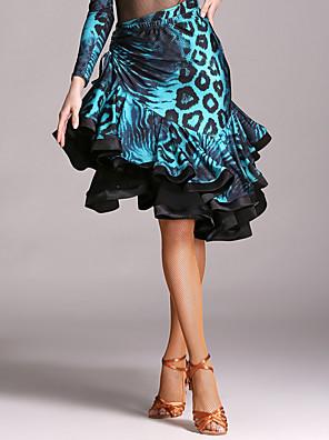 cheap Prom Dresses-Latin Dance Skirt Cascading Ruffle Women's Performance Natural Velvet