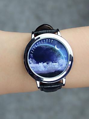 cheap Quartz Watches-Women's Fashion Watch Wrist Watch Unique Creative Watch Quartz Genuine Leather Black Creative LED Cool Analog Casual Astronomical - Fuchsia Regency One Year Battery Life / SODA AG4