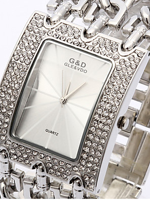 cheap Quartz Watches-Bracelet Watch Quartz Alloy Band Silver
