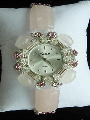 cheap Quartz Watches-Women's Fashion Watch Quartz Ceramic White / Green Analog Charm - Yellow Arm Green Pink