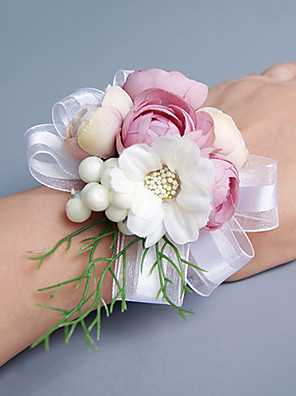 cheap Cocktail Dresses-Wedding Flowers Bouquets / Wrist Corsages / Others Wedding / Party / Evening Material / Lace / Satin 0-20cm