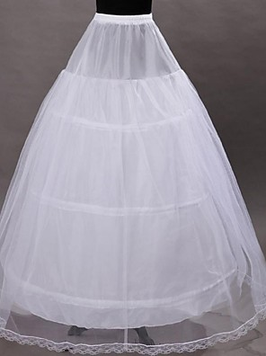 cheap Wedding Slips-Wedding / Special Occasion Slips Tulle / Polyester Tea-Length A-Line Slip / Ball Gown Slip with