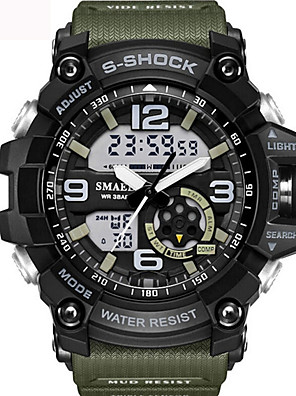 cheap Sport Watches-Men's Unisex Sport Watch Fashion Watch Military Watch Digital Water Resistant / Waterproof Silicone Black / Blue / Red Analog - Digital - Black / Gold Black / Blue Black / Silver Two Years Battery