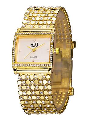 cheap Sport Watches-ASJ Women's Ladies Luxury Watches Bracelet Watch Gold Watch Luxury Imitation Diamond Gold Analog - White Black / Japanese / Japanese