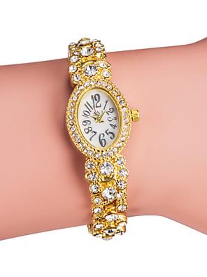 cheap Quartz Watches-Women's Luxury Watches Bracelet Watch Diamond Watch Quartz Ladies Imitation Diamond Silver / Gold Analog - Gold Silver / Japanese / Japanese