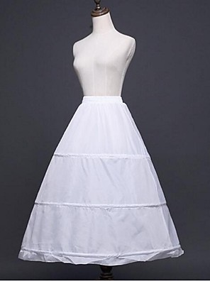 cheap Wedding Slips-Wedding / Special Occasion Slips Polyester Tea-Length A-Line Slip / Ball Gown Slip with