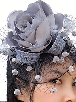 cheap Prom Dresses-Net / Satin Fascinators / Flowers / Birdcage Veils with 1 Wedding / Special Occasion / Casual Headpiece