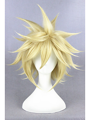 cheap Bridesmaid Dresses-Synthetic Wig Cosplay Wig Straight Straight Wig Blonde Short Golden Blonde Synthetic Hair Women's Blonde