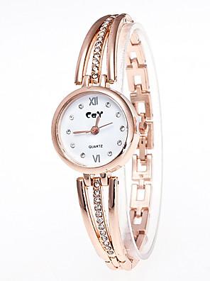 povoljno Kvarcni satovi-Žene Narukvica Pogledajte Diamond Watch Zlatni sat Kvarc Zlatna Casual sat imitacija Diamond Analog dame Moda - Zlato