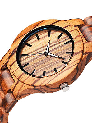 cheap Dress Classic Watches-Men's Wrist Watch Quartz Wood Beige Wooden Analog Elegant