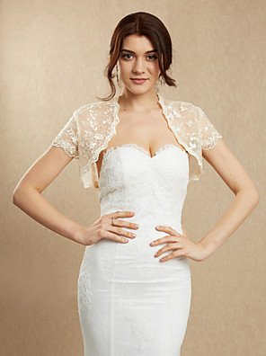 cheap Wedding Wraps-Lace Wedding / Party Evening Women's Wrap With Lace Shrugs