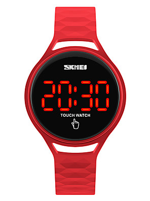 cheap Fashion Watches-SKMEI Sport Watch Wrist Watch Digital Watch Digital Ladies Water Resistant / Waterproof Silicone Black / Blue / Red Digital - Black Yellow Red Two Years Battery Life / Japanese / Japanese