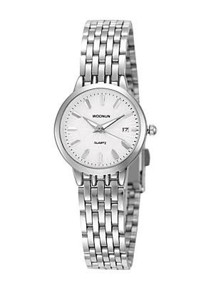 cheap Quartz Watches-Women's Fashion Watch Quartz Silver / Gold Analog - Black / Gold White Black