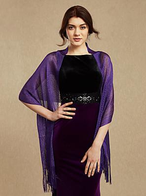cheap Wedding Wraps-Shawls Cotton Wedding / Party Evening Women's Wrap With Tassel