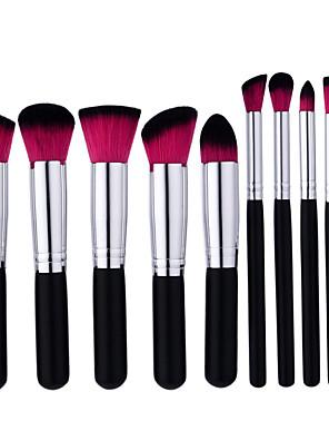 cheap Makeup Brush Sets-Professional Makeup Brushes Makeup Brush Set 10pcs Portable Professional Full Coverage Wooden Makeup Brushes for Makeup Brush Set