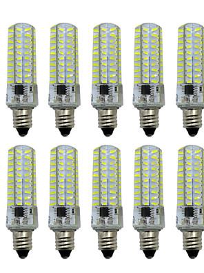 cheap Cocktail Dresses-HKV 10pcs 5 W LED Bi-pin Lights 400-500 lm E14 E12 E17 T 80 LED Beads SMD 4014 Dimmable Warm White Cold White 220-240 V / 10 pcs / RoHS