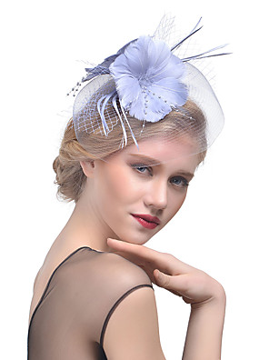 cheap Prom Dresses-Tulle / Feather / Net Fascinators with 1 Wedding / Special Occasion Headpiece