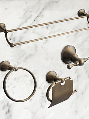 cheap Mother of the Bride Dresses-Bathroom Accessory Set Antique Brass 4pcs - Hotel bath Toilet Paper Holders / Robe Hook / tower bar