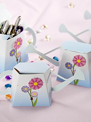 cheap Wedding Dresses-Cuboid Card Paper Favor Holder with Pattern Favor Boxes / Favor Bags / Favor Tins and Pails - 12