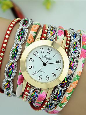 cheap Quartz Watches-Women's Bracelet Watch Diamond Watch Quartz Ladies Quilted PU Leather Black / White / Blue Analog - Light Sky Blue White Black One Year Battery Life / Tianqiu 377