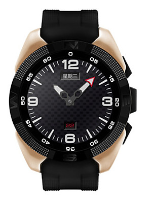 cheap Sport Watches-Men's Sport Watch Smartwatch Digital Heart Rate Monitor Quilted PU Leather Black Analog - Digital - Black Gold Silver / Stainless Steel