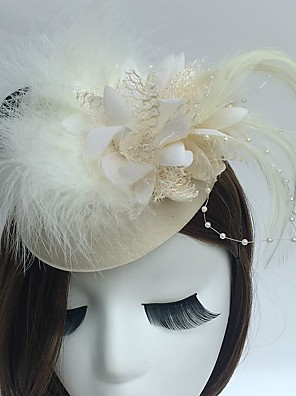 cheap Evening Dresses-Fascinators / Hats / Headwear with Floral 1pc Special Occasion / Tea Party / Horse Race Headpiece