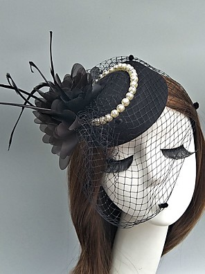 cheap Evening Dresses-Tulle Kentucky Derby Hat / Fascinators / Hats with Feather 1 Event / Party / Tea Party / Horse Race Headpiece