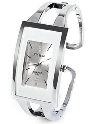 cheap Quartz Watches-Women's Ladies Fashion Watch Unique Creative Watch Square Watch Quartz Silver Rhinestone Imitation Diamond Analog Casual Bangle - White One Year Battery Life / SSUO LR626