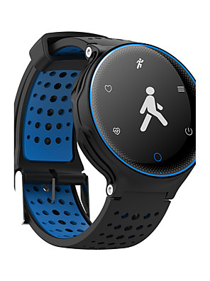 cheap Smart Watches-Men's Women's Sport Watch Military Watch Smartwatch Digital Charm Water Resistant / Waterproof Quilted PU Leather Black / Blue / Red Digital - Red Blue Green / Touch Screen / Heart Rate Monitor