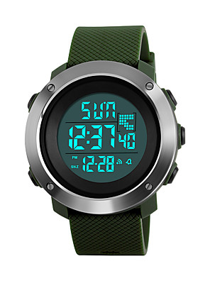 cheap Sport Watches-SKMEI Women's Sport Watch Military Watch Wrist Watch Digital Fashion Water Resistant / Waterproof Quilted PU Leather Black / Green / Grey Digital - Black Green Gray Two Years Battery Life / Japanese