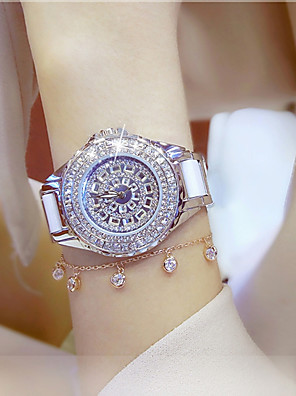 cheap Quartz Watches-Women's Ladies Luxury Watches Bracelet Watch Wrist Watch Quartz Charm Water Resistant / Waterproof Analog Rose Gold Gold Silver / One Year / Stainless Steel / Stainless Steel / Ceramic