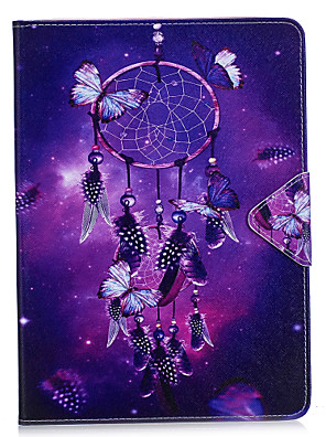 cheap iPad case-Case For Apple iPad Air / iPad 4/3/2 / iPad Mini 3/2/1 Wallet / Card Holder / with Stand Full Body Cases Dream Catcher / Flower Hard PU Leather / iPad Pro 10.5 / iPad (2017)