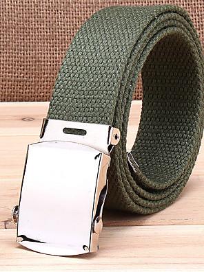 cheap Men's Belt-Men's Stripes Waist Belt - Solid Colored