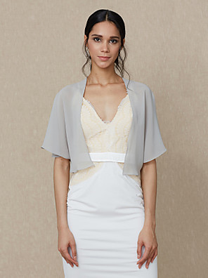 cheap Buy More, Save More-Shrugs Chiffon Wedding / Party / Evening Women's Wrap / Bolero With Draping / Solid