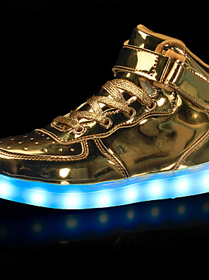 cheap Girls' Dresses-Boys' LED / LED Shoes / USB Charging Leatherette Sneakers Little Kids(4-7ys) / Big Kids(7years +) Walking Shoes Hook & Loop / LED / Luminous White / Black / Red Fall / Winter / Rubber / EU39
