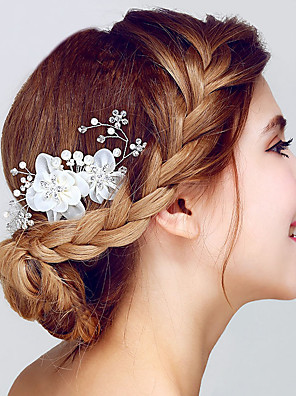cheap Junior Bridesmaid Dresses-Crystal / Organza Hair Combs / Headwear with Floral 1pc Wedding / Special Occasion / Anniversary Headpiece