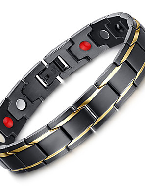 cheap Cocktail Dresses-Men's Chain Bracelet Luxury Vintage Bohemian Punk Stretch Stainless Steel Bracelet Jewelry Black For Christmas Christmas Gifts Party Special Occasion Anniversary Birthday / Titanium Steel