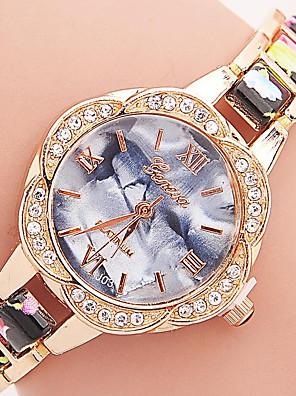 cheap Quartz Watches-Geneva Women's Bracelet Watch Diamond Watch Quartz Ladies Rhinestone Black / Blue / Red Analog - White Black Purple One Year Battery Life / Tianqiu 377