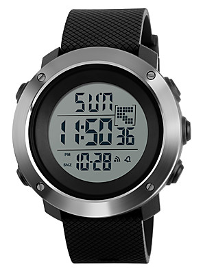 cheap Digital Watches-SKMEI Men's Sport Watch Military Watch Wrist Watch Digital Charm Water Resistant / Waterproof Quilted PU Leather Black / Green / Grey Digital - Black Green Gray Two Years Battery Life / Alarm