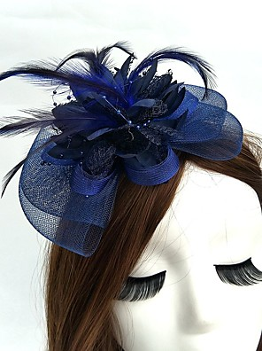 cheap Wedding Wraps-Net Fascinators / Hats / Headwear with Floral 1pc Wedding / Special Occasion / Tea Party Headpiece