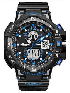 cheap Smart Watches-SMAEL Men's Digital Watch Navy Seal Watch Luxury Water Resistant / Waterproof Silicone Black Analog - Digital - Blue Gold Green / Japanese / Calendar / date / day / Luminous / Noctilucent