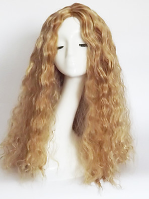 cheap Evening Dresses-Synthetic Wig Wavy Wavy Asymmetrical With Bangs Wig Blonde Long Strawberry Blonde / Light Blonde Synthetic Hair Women's Natural Hairline Blonde