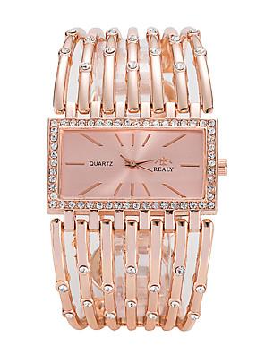 cheap Quartz Watches-Women's Luxury Watches Wrist Watch Gold Watch Quartz Ladies Casual Watch Silver / Gold / Rose Gold Analog - Rose Gold Gold Silver One Year Battery Life / SSUO 377